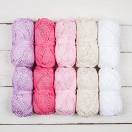 Rico  Creative Cotton Aran Color Pack My Princess, (8 pack)