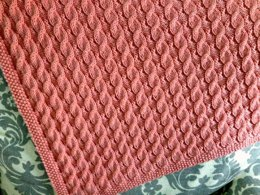 Scarlett's Reversible Cable Baby Blanket