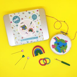 The Make Arcade You're My World Gift Set - 3in Emb Hoop, 6cm Badge