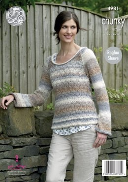 Tunic & Sweater in King Cole Cotswold Chunky - 4981