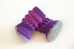 Color Madness Crochet Baby Booties