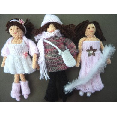 Mini Doll with three outfits