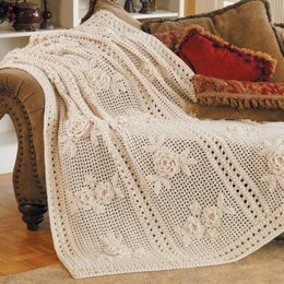 Flower Garden Afghan in Red Heart Soft - LW1470