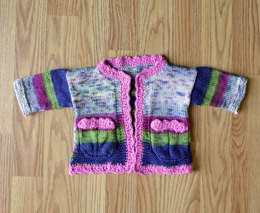 Cute Cardi in Universal Yarn Little Bird & Little Bird Colors - Downloadable PDF