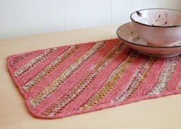 Bias Table Mat in Classic Elite Yarns Bella Lino & Firefly - Downloadable PDF