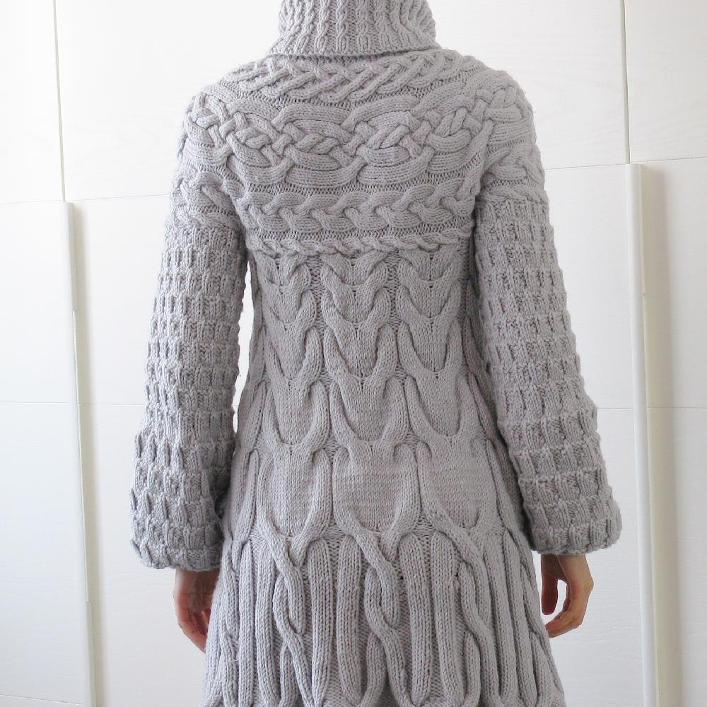 Knitting Pattern For Ladies Hood : Minimissimi Sweater Coat Knitting pattern by Minimi Knit ...