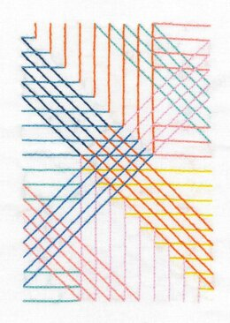 DMC Parallel Lines Embroidery Kit - 26cm x 16cm  - TB110