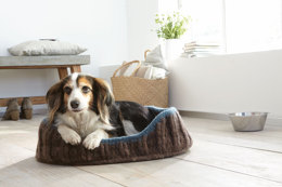 Dog Bed in Schachenmayr Wash+Filz-it! Big color and Wash+Filz-it! Big - F0067 - Downloadable PDF