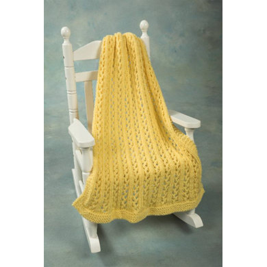 Lace Baby Throw in Plymouth Encore Chunky - F440