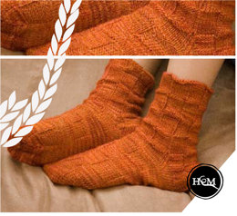 Little Square Socks in Hand Maiden Casbah