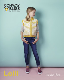 Zip Up Gilet in C+B Lolli and Debbie Bliss Baby Cashmerino