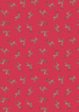Lewis & Irene Small Things…Country Creatures Deer Red Cut to Length