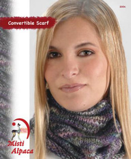 Convertible Scarf in Misti Alpaca Baby Me Boo Hand Paint - 2004