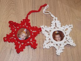 Snowflake photo frame