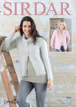 Cardigans in Sirdar Ophelia - 7791- Downloadable PDF