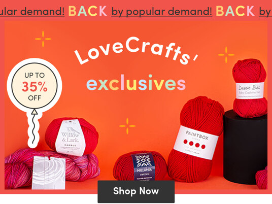 Up to 35 percent off LoveCrafts' exclusives!