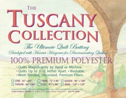 Hobbs Batting Tuscany Polyester 96in x 108in Queen