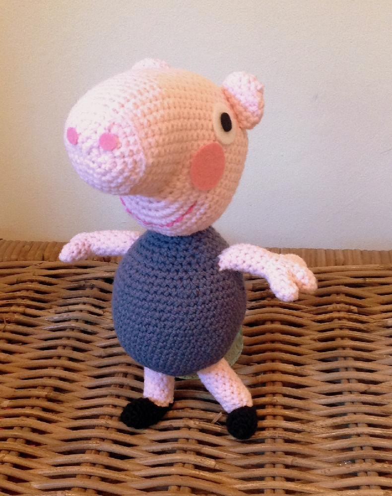 George Pig Knitting Pattern Jumper : George from Peppa Pig plush amigurumi Crochet pattern by Lotties Creatio...
