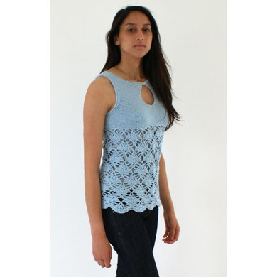 Summer Top with Knit Bodice and Crochet Body