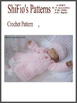 Double Breasted Jacket Crochet pattern UK & USA Terms#87