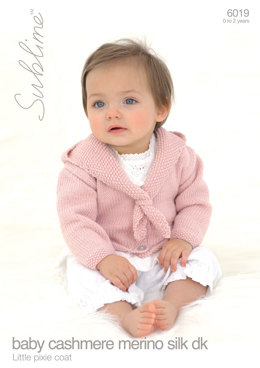 Babies Little Pixie Coat in Sublime Baby Cashmere Merino Silk DK - 6019 - Downloadable PDF