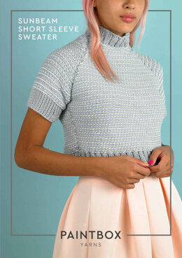 Sunbeam Short Sleeve Sweater in Paintbox Yarns Cotton Aran - Downloadable PDF