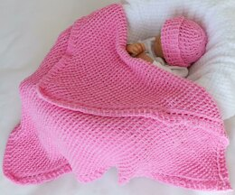 Snug as a Bug Baby Blanket & Hat Set