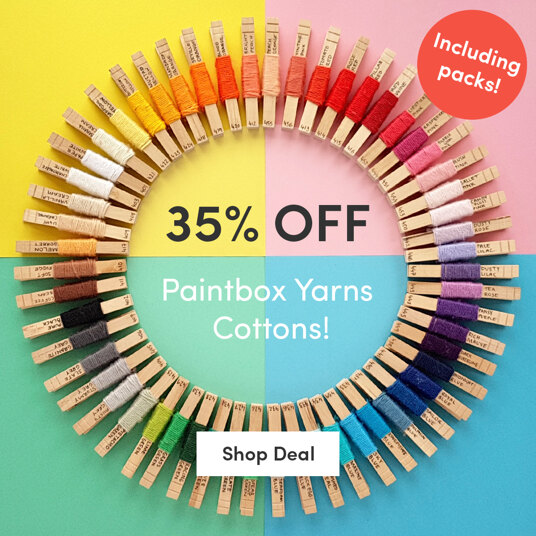 35 percent off Paintbox Yarns Cottons! Including packs!