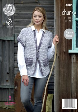 Cape & Waistcoat in King Cole King Cole Big Value Tonal Chunky - 4885