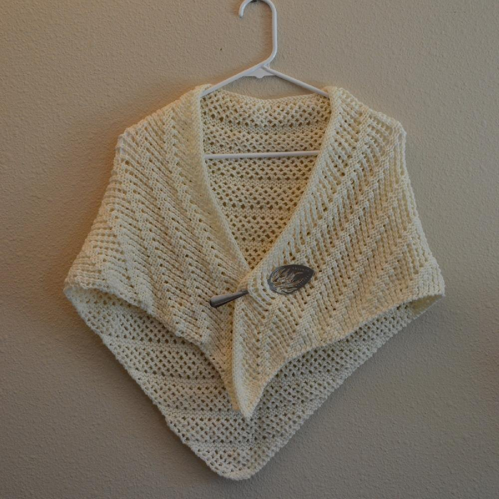 Eyelet Lace Shawl Knitting pattern by colette smith Knitting Patterns Lov...