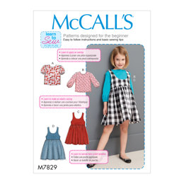 McCall's Children's/Girls' Tops and Jumpers M7829 - Sewing Pattern