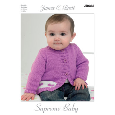 Hat and Cardigans in James C. Brett Supreme Baby DK - JB083