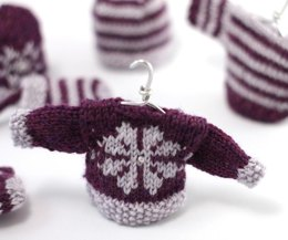 Christmas Glamour Mini Snowflake Sweater Decoration