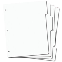 "Crafter's Companion EZMount Tabbed Stamp Storage Panels 4/Pkg - 8.5""X11"""