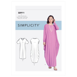 Simplicity Misses' Knit Caftans S8911 - Sewing Pattern