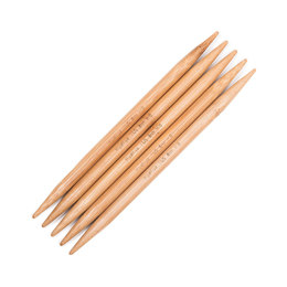 "Hiya Hiya Bamboo Double Points 6"" 15cm Double Pointed Needle 15cm (6"") (Set of 5)"