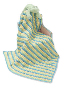 Soft Shells Baby Blanket in Caron Simply Soft Light - Downloadable PDF