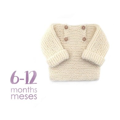 Size 6-12 months - Natural Baby Sweater