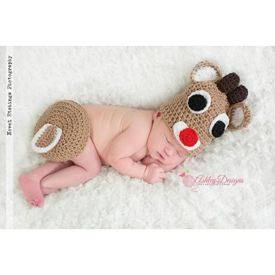Rudolph Baby Tushy Cover Set
