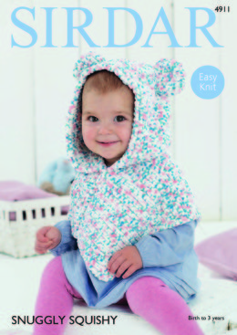 Poncho in Sirdar Snuggly Squishy - 4911 - Downloadable PDF