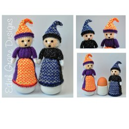 Halloween Witch Doll Egg Cosy - Toy Knitting Pattern