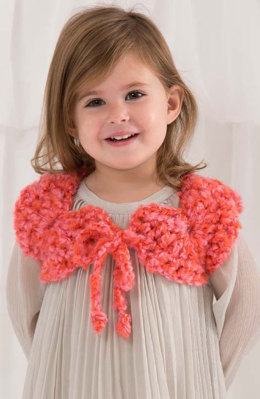 Child Perfect Shrug in Red Heart Baby Clouds Solids - LW4584 - Downloadable PDF