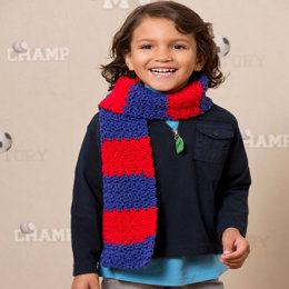 Sports Fever Scarf in Red Heart Team Spirit - LW3752 - Downloadable PDF