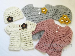 Toddler Cardigan and Beanie