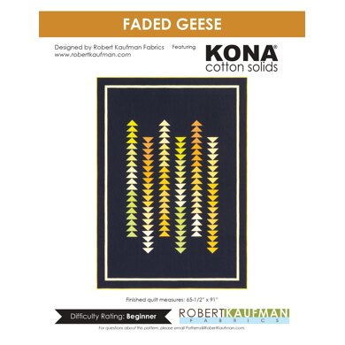 Robert Kaufman Faded Geese - Downloadable PDF