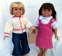 Back to School, Knitting Patterns fit American Girl and other 18-Inch Dolls