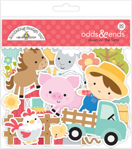 Doodlebug Odds & Ends Die-Cuts - Down On The Farm, 90/Pkg