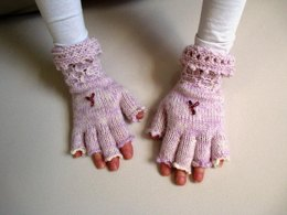 Wasp patterned Fingerless Gloves