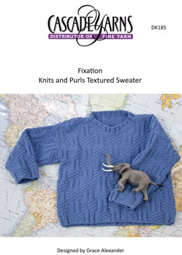 Knits & Purls Textured Pullover in Cascade Fixation - DK185