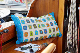 Colorful Granny Pillow in Schachenmayr Catania - S9020 - Downloadable PDF